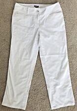 Women's J JILL Size 4 4P Crop White Jeans Pants Petite Capri Stretch  G21