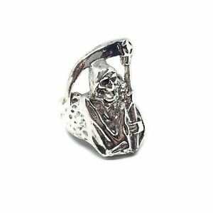 Grim Reaper Silver Ring l FREE UK POST Sons Of Anarchy 925 Sterling Plated Steel
