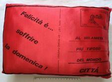 CUSCINO STADIO MILAN VINTAGE ANNI 80 BUSTA POSTALE POSTE ITALIANE TIFOSO ULTRAS