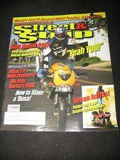 STREET & STRIP May/June 2001 Ducati Monster S4 Harley FXDX stunting AMA/Prostar