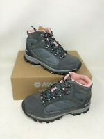 New In Box! Women's Hi-Tec Oregon II Mid WP Hiking Boot 22036 Gray/Blush - 38G