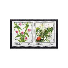PALAU, Sc #133b, MNH, 1987, Booklet pair, Flowers, Flora, Plants, GIAW6