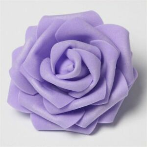 30 pcs Artificial Flower Foam Rose Heads Decorative Wreaths Wedding Event Party