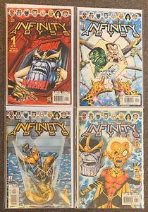 Thanos: Infinity Abyss #1,2,3,6 Marvel Comics Jim Starlin Al Milgrom Lot Nm