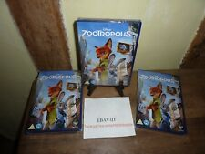 DISNEY ZOOTROPOLIS DVD NEW SEALED