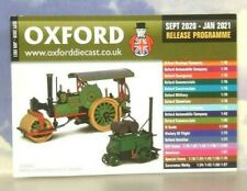 OXFORD DIECAST 48 PAGE POCKET CATALOGUE SEPTEMBER 2020 TO JANUARY 2021 SCHEDULE