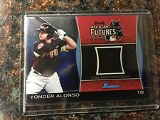 Yonder Alonso RC 2011 Bowman Draft Future's Game Relics Blue #YA serial #'D/199