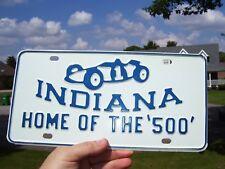 Original 50s nos Indy 500 License plate Indiana Indianapolis vintage gm nhra old
