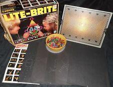 VINTAGE 1981 HASBRO LITE LIGHT BRITE BRIGHT TOY IN BOX W/ PEGS & 8 UNUSED PAPERS