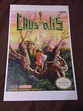 Crystalis 11x17 Box Art Poster - Nintendo NES No Game RPG -