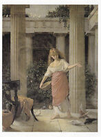 John William Waterhouse In The Peristyle Postcard used VGC