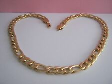 HEAVY   WEIGHT FIGARO CHAIN  GOLD  METAL SIZE & RESIN  24 inch