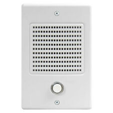M&S DMC Intercom Door Station with Bell Button, White (DS3B)