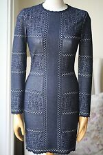 ALEXANDER MCQUEEN VICTORIAN-STYLE LACE KNIT DRESS SMALL