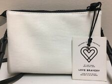 Love Bravery by Lady Gaga & Elton John, Black & White Zip Cross Body Purse, NWT