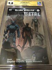 Batman Dark Knights Metal 5 Wraparound Variant CGC 2XSS 9.8 Capullo Snyder 3/18