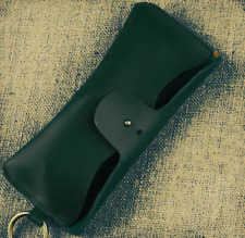 men women Eyeglass Cases sunglasses bag holder cow Leather Customize green z323