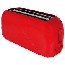 4 Scheiben Langschlitz Toaster 1300W Toastautomat Zweischlitzer Röster Sandwich