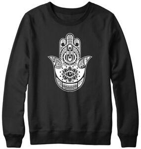 Hamsa Hand Mens Womens Unisex Sweatshirt