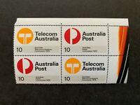 1975 10c Post & Telecom Block of 4 with tab Mint never hinged
