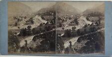 Vallée di Laruns Pyrenees Fotografia Stereo Vintage Albumina