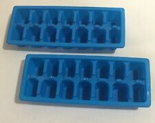 ECONOMY BLUE EASY RELEASE ICE CUBE TRAY SET OF 2 NEW FAST SHIPPING !