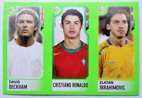 2006 Panini World Cup Cristiano Ronaldo Rookie Beckham Ibrahimovic Mini Sticker