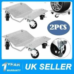2pc 1500lbs / 680kg Tire Car Wheel Dolly Skate Repair Snowmobile Moving Capcity
