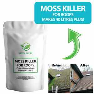 Roof Moss Killer Remover Cleaner - KILLS & Removes ALL Moss from ROOFS Makes 40L
