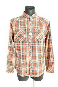 Blend BNWT 39 Multicolored Plaid Long Sleeve Collared Button-Up Shirt Size L