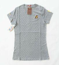Mitchell & Ness Lakers T-Shirt Grey/ Purple X- Small Printed Crew T-shirt Dress