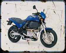 Buell M2 Cyclone 01 4 A4 metal sign moto Vintage Aged