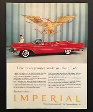 1958 Chrysler Imperial Advertisement Convertible Eagle Red Car Photo Print AD