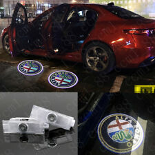 2x Car LED Door Ghost Logo Projector Light For Alfa Romeo 147 159 Giulietta Mito