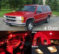 18Pcs Red LED Lights Interior Package Kit For 1992-1999 4 door Tahoe/Yukon