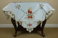 Grant Linen Embroidery Christmas Table Topper