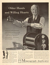 1942 AD MIMEOGRAPH DUPLICATOR AB Dick Co. Art Old Man Rolls up Sleeves 051517