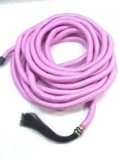 D.A. Brand Pink 22' Poly Blend Mecate Reins with Horse Hair Tassel horse tack