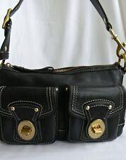Black Leather Coach Legacy Shoulder Bag