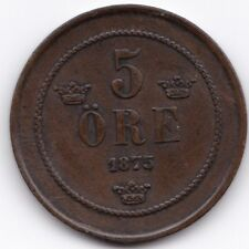 More details for 1875 sweden 5 ore | pennies2pounds