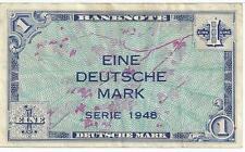 Rare year 1948 Mpc Military Payment Certificate German 1 Eine Mark Note Deutsche