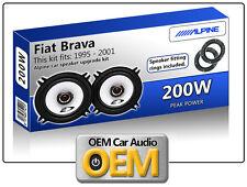 FIAT BRAVA Porte avant haut parleurs Alpine ENCEINTE VOITURE Kit avec adaptateur
