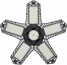 120W Led Garage Light Super Bright Shop Ceiling Lights Deformable 12000Lm Bulb