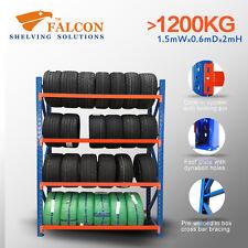 1.5mWx0.6mDx2mH,Tyres Storage Racks Stands Shelf Shelves Shelving Racking, S