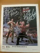 DX TRIPLE HHH CHYNA HBK ORIG SIGNED AUTOGRAPHED WWF PROMO PHOTO BAS CERTIFIED