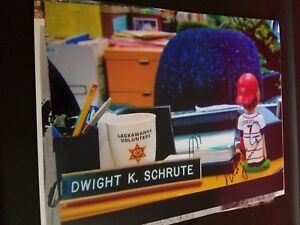 """Mike Lieberthal Dwight Schrute """"The Office"""" AUTOGRAPHED 8x10 photo - Phillies"""