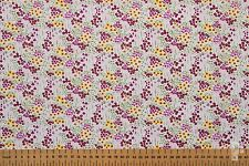 100% COTTON PRINT FABRIC - WOODLANDS THEME - FIELD OF FLOWERS