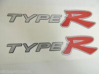 Honda Civic EP3 Type R OEM Rouge X 2 Panneau Latéral Stickers K20 - Feu Voitures
