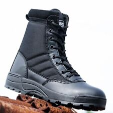 Desert Army Combat Patrol Boots Tactical Military Work Black **FREE P&P**