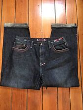 COOGI BAGGY Hip Hop JEANS EMBROIDERED SIZE W40 X L34
